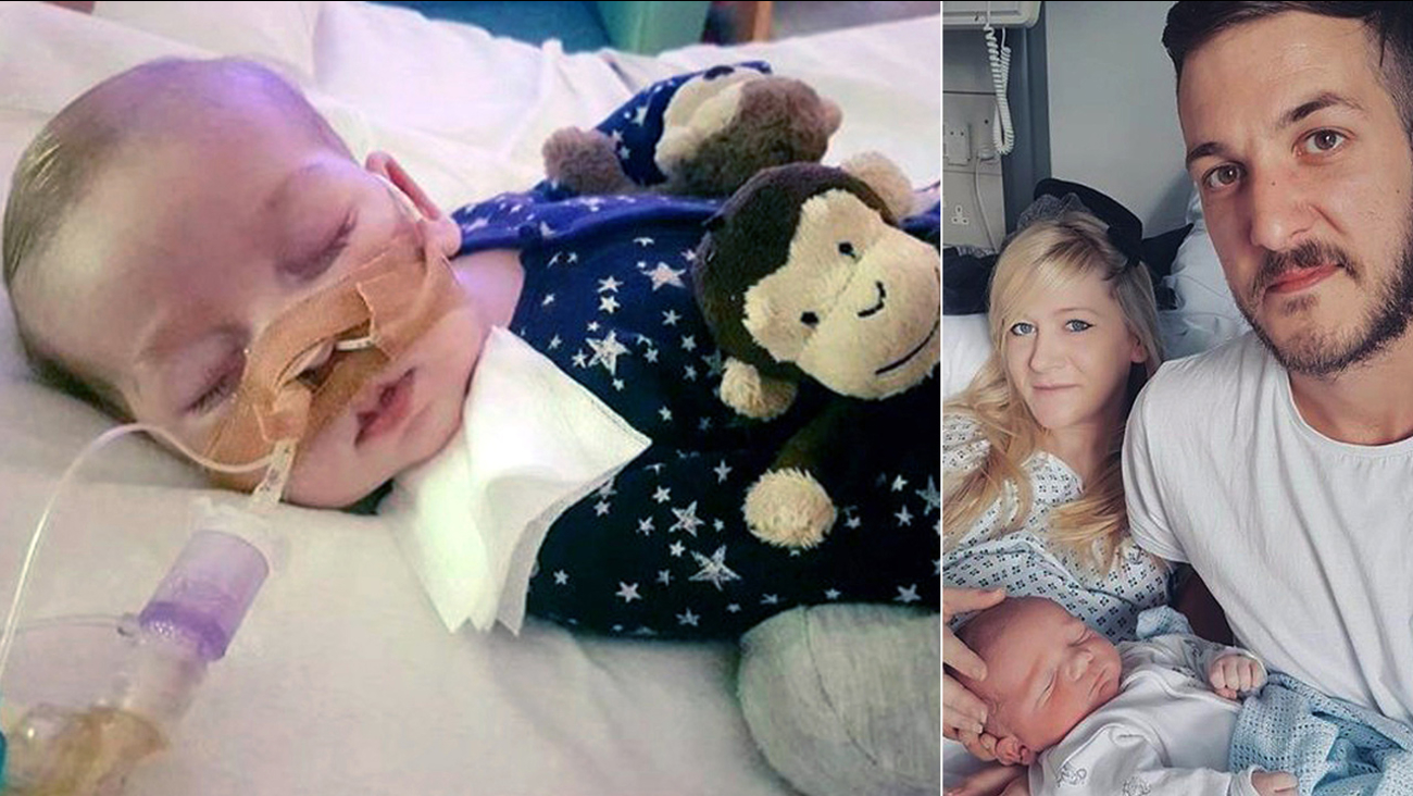 This is an undated handout photo of Charlie Gard provided by his family, at Great Ormond Street Hospital, in London.