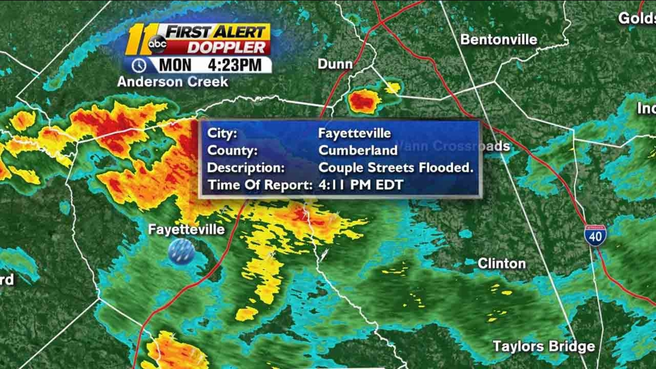 Heavy rains cause flood warning for Cumberland County