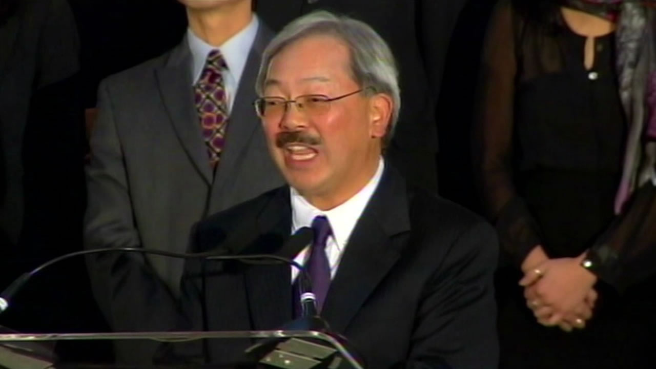 San Francisco Mayor Ed Lee making a public appearance.