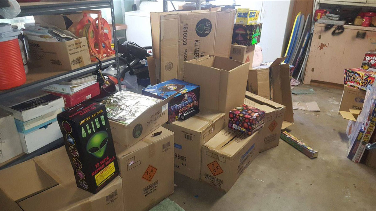 San Bernardino police tweeted out a photo of 500 pounds of illegal fireworks confiscated in the city during an operation.