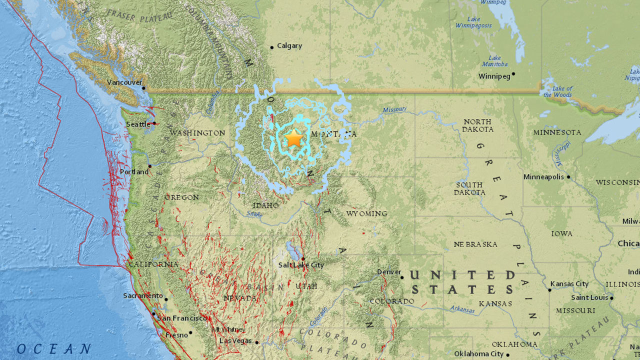 A 5.8 magnitude earthquake struck western Montana and was felt as far west as Spokane, Washington.