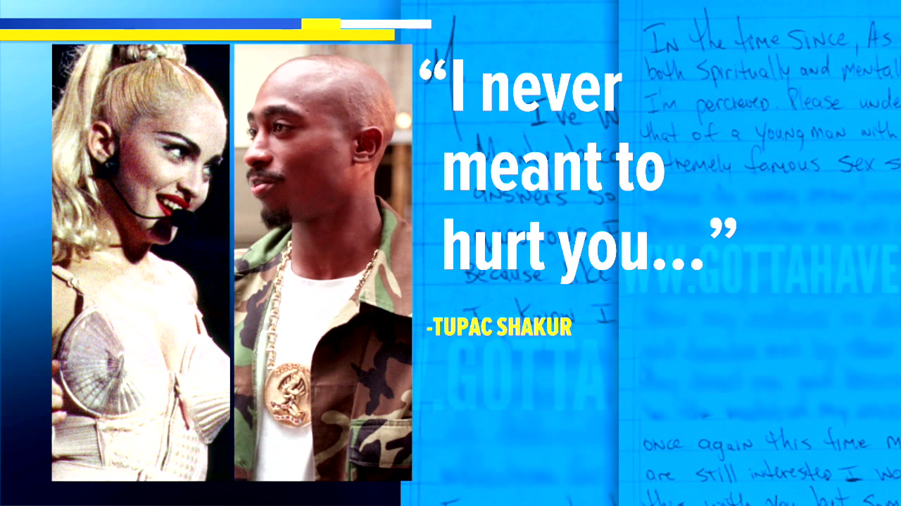 Tupac Shakur letter reveals why he broke up with Madonna