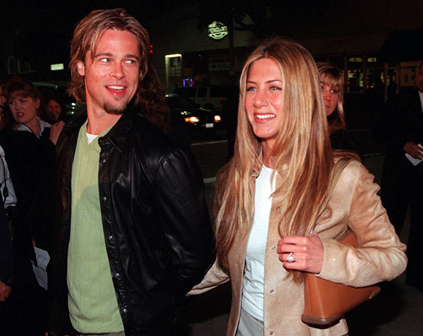 <div class='meta'><div class='origin-logo' data-origin='AP'></div><span class='caption-text' data-credit=''>Brad Pitt and Jennifer Aniston</span></div>