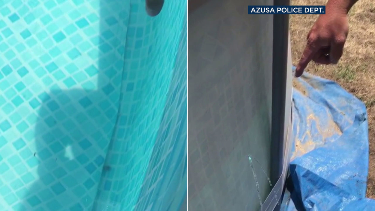 A bullet shot into the air on July Fourth was found at the bottom of an Azusa family's pool.