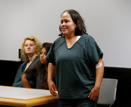 "<div class=""meta image-caption""><div class=""origin-logo origin-image ap""><span>AP</span></div><span class=""caption-text"">Isabel Martinez during her first court appearance Friday, July 7, 2017, in Lawrenceville , Ga. AP Photo/John Bazemore) (AP)</span></div>"