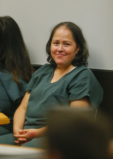 <div class='meta'><div class='origin-logo' data-origin='AP'></div><span class='caption-text' data-credit='AP'>Isabel Martinez during her first court appearance Friday, July 7, 2017, in Lawrenceville , Ga. AP Photo/John Bazemore)</span></div>