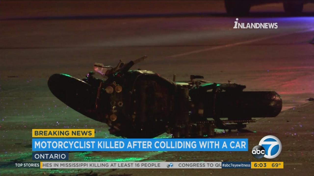 Motorcyclist killed in crash involving car in Ontario