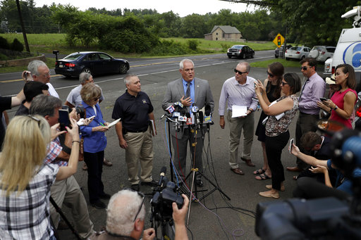 <div class='meta'><div class='origin-logo' data-origin='none'></div><span class='caption-text' data-credit='AP'>Matthew Weintraub, District Attorney for Bucks County, Pa., speaks to the media during a news conference, Monday, July 10, 2017, in Solebury, Pa. (AP Photo/Matt Slocum)</span></div>