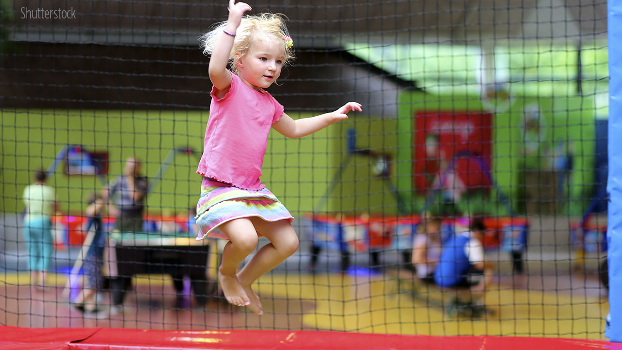 A mother warns about the use of trampolines for kids.