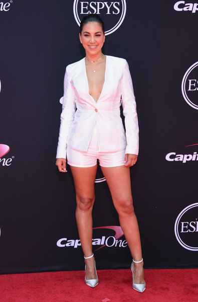 <div class='meta'><div class='origin-logo' data-origin='AP'></div><span class='caption-text' data-credit='Jordan Strauss/Invision/AP'>Liz Hernandez arrives at the ESPYS at the Microsoft Theater on Wednesday, July 12, 2017, in Los Angeles.</span></div>