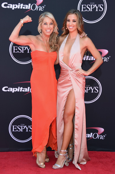 <div class='meta'><div class='origin-logo' data-origin='AP'></div><span class='caption-text' data-credit='Jordan Strauss/Invision/AP'>Denise Austin, left, and Katie Austin arrive at the ESPYS at the Microsoft Theater on Wednesday, July 12, 2017, in Los Angeles.</span></div>