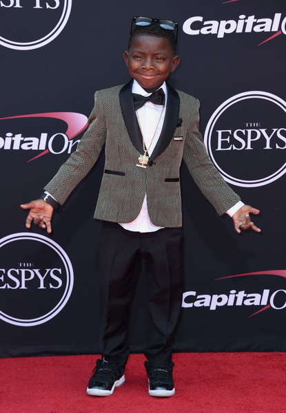 <div class='meta'><div class='origin-logo' data-origin='AP'></div><span class='caption-text' data-credit='Jordan Strauss/Invision/AP'>Jarrius Robertson arrives at the ESPYS at the Microsoft Theater on Wednesday, July 12, 2017, in Los Angeles.</span></div>