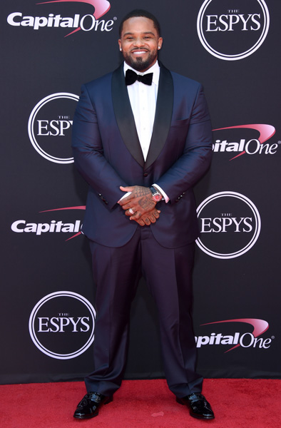 <div class='meta'><div class='origin-logo' data-origin='none'></div><span class='caption-text' data-credit='Jordan Strauss/Invision/AP'>Retired MLB baseball player Prince Fielder arrives at the ESPYS at the Microsoft Theater on Wednesday, July 12, 2017, in Los Angeles.</span></div>