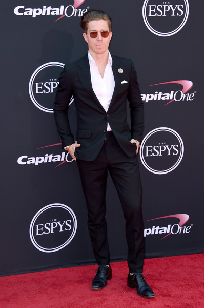<div class='meta'><div class='origin-logo' data-origin='none'></div><span class='caption-text' data-credit='Jordan Strauss/Invision/AP'>Shaun White arrives at the ESPYS at the Microsoft Theater on Wednesday, July 12, 2017, in Los Angeles.</span></div>