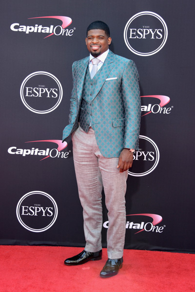 <div class='meta'><div class='origin-logo' data-origin='none'></div><span class='caption-text' data-credit='Matt Winkelmeyer/Getty Images'>LOS ANGELES, CA - JULY 12:  NHL player P.K. Subban attends The 2017 ESPYS at Microsoft Theater on July 12, 2017 in Los Angeles, California.</span></div>