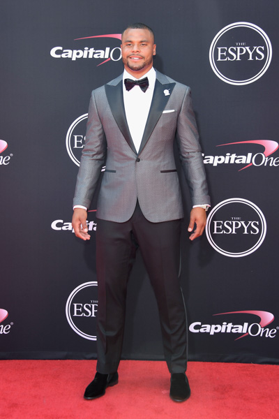 <div class='meta'><div class='origin-logo' data-origin='none'></div><span class='caption-text' data-credit='Matt Winkelmeyer/Getty Images'>LOS ANGELES, CA - JULY 12:  NFL player Dak Prescott attends The 2017 ESPYS at Microsoft Theater on July 12, 2017 in Los Angeles, California.</span></div>