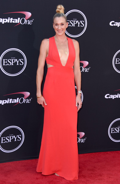 <div class='meta'><div class='origin-logo' data-origin='none'></div><span class='caption-text' data-credit='Jordan Strauss/Invision/AP'>Beach volleyball player Kerri Walsh Jennings arrives at the ESPYS at the Microsoft Theater on Wednesday, July 12, 2017, in Los Angeles.</span></div>