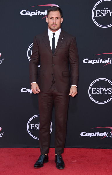 <div class='meta'><div class='origin-logo' data-origin='none'></div><span class='caption-text' data-credit='Jordan Strauss/Invision/AP'>NFL football player Danny Amendola, of the New England Patriots, arrives at the ESPYS at the Microsoft Theater on Wednesday, July 12, 2017, in Los Angeles.</span></div>