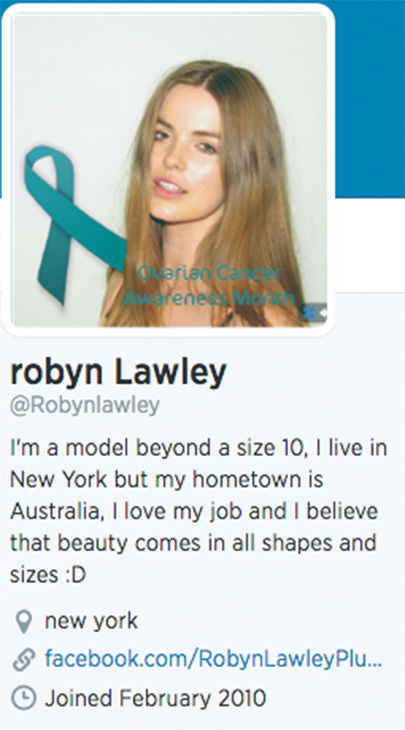 "<div class=""meta image-caption""><div class=""origin-logo origin-image ""><span></span></div><span class=""caption-text"">Lawley's Twitter profile states that she is beyond size 10, though she has been cited to be a size 12. (robynlawley1 / Instagram)</span></div>"