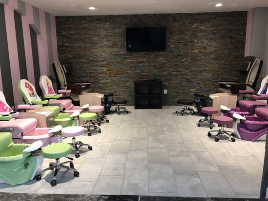 mansion nail salon in cypress features 2 nail bars and man cave