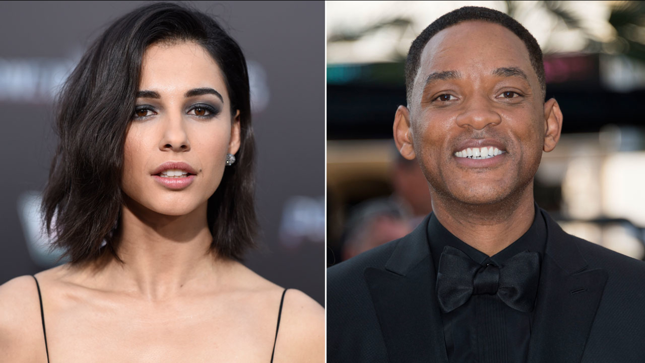 "Naomi Scott (left) at a ""Power Rangers"" premiere on Wednesday, March 22, 2017. Will Smith at the 70th international film festival Cannes, southern France, Sunday, May 28, 2017."