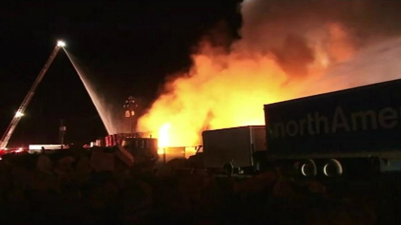 Warehouse fire in San Jose