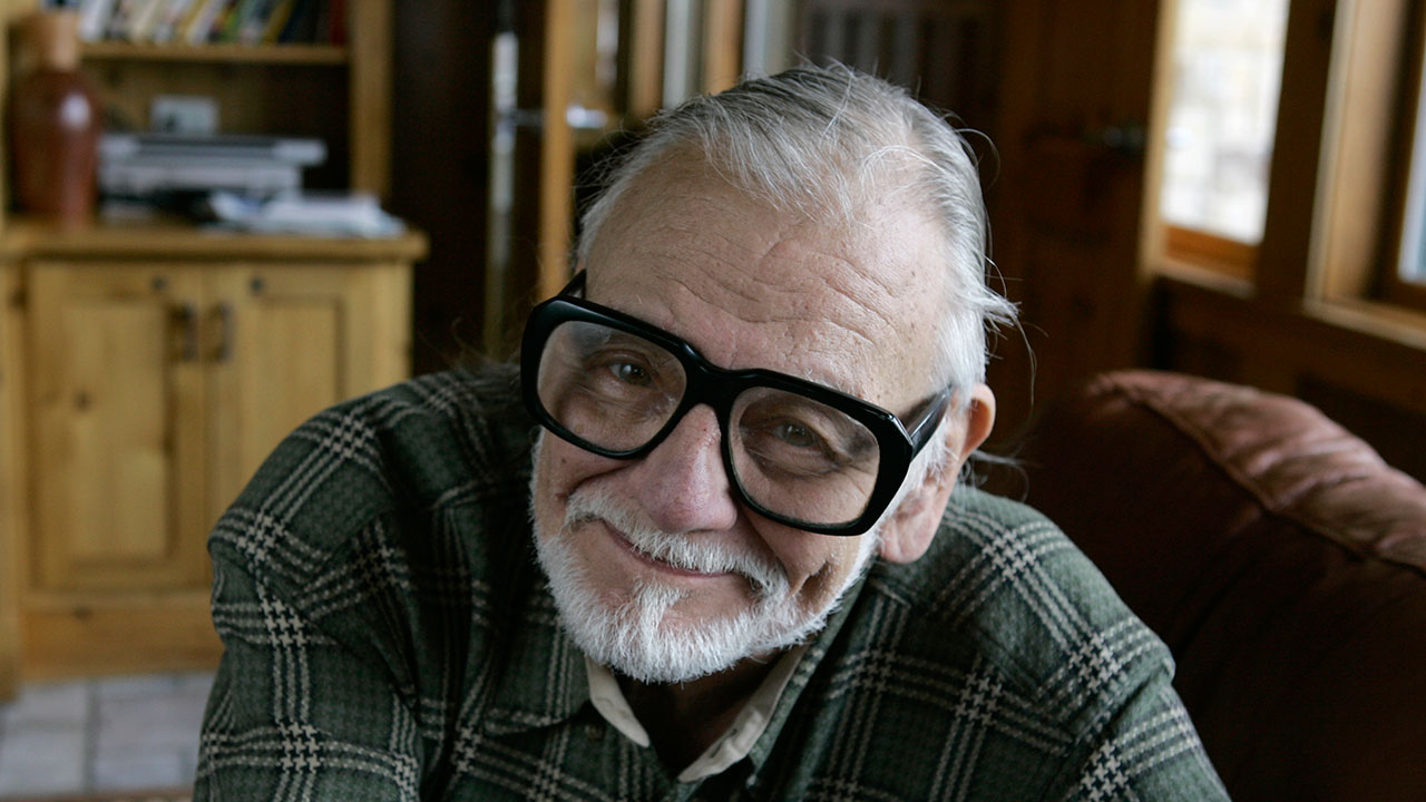 "George Romero, best known as director of ""Night of the Living Dead,"" pictured on Jan. 21, 2008 at a film festival in Park City Utah."