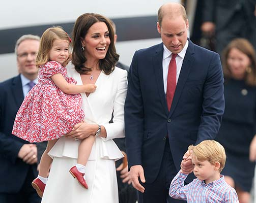 "<div class=""meta image-caption""><div class=""origin-logo origin-image kfsn""><span>kfsn</span></div><span class=""caption-text"">Catherine, Duchess of Cambridge, Princess Charlotte of Cambridge, Prince William, Duke of Cambridge and Prince George of Cambridge arrive at Warsaw airport during an official visit (Pool/Samir Hussein/Samir Hussein/WireImage)</span></div>"