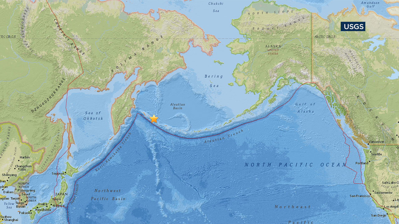 A 7.7 earthquake struck in the Pacific Ocean east of Russia, triggering a tsunami warning.
