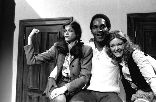 "<div class=""meta image-caption""><div class=""origin-logo origin-image none""><span>none</span></div><span class=""caption-text"">O.J. Simpson with actresses Gilda Radner, left, and Jane Curtin as he appeared on NBC's Saturday Night Live in 1978. After his retirement from football, Simpson began acting. (AP Photo, file)</span></div>"