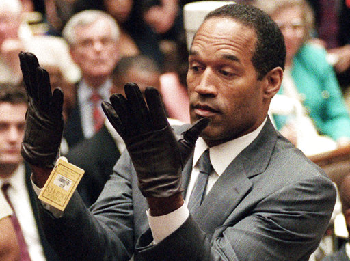 "<div class=""meta image-caption""><div class=""origin-logo origin-image none""><span>none</span></div><span class=""caption-text"">Simpson holds up his hands before the jury after putting on a new pair of gloves similar to the infamous bloody gloves during his double-murder trial in Los Angeles. (AP Photo/Vince Bucci, Pool, File)</span></div>"