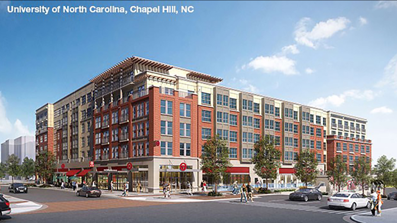 A rendering of the new Target store in Chapel Hill.