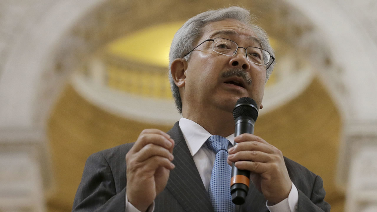 In this Nov. 14, 2016 photo, San Francisco Mayor Ed Lee speaks during a meeting at City Hall in San Francisco.
