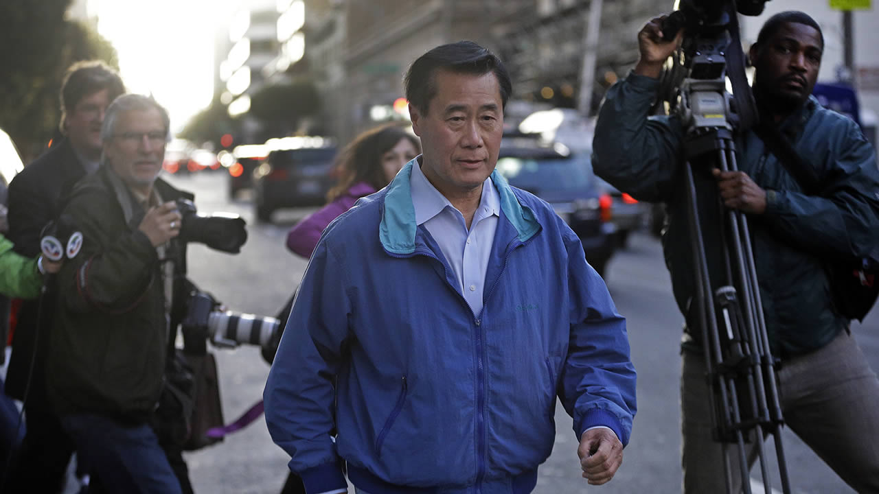 St. Sen. Leland Yee leaving one of his court appearances.