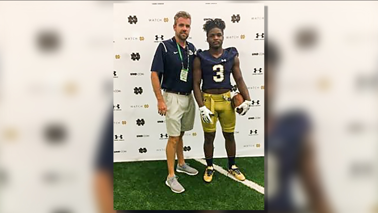 Lee County football and academic star Jahmir Smith has chosen Notre Dame from more than 30 schools.