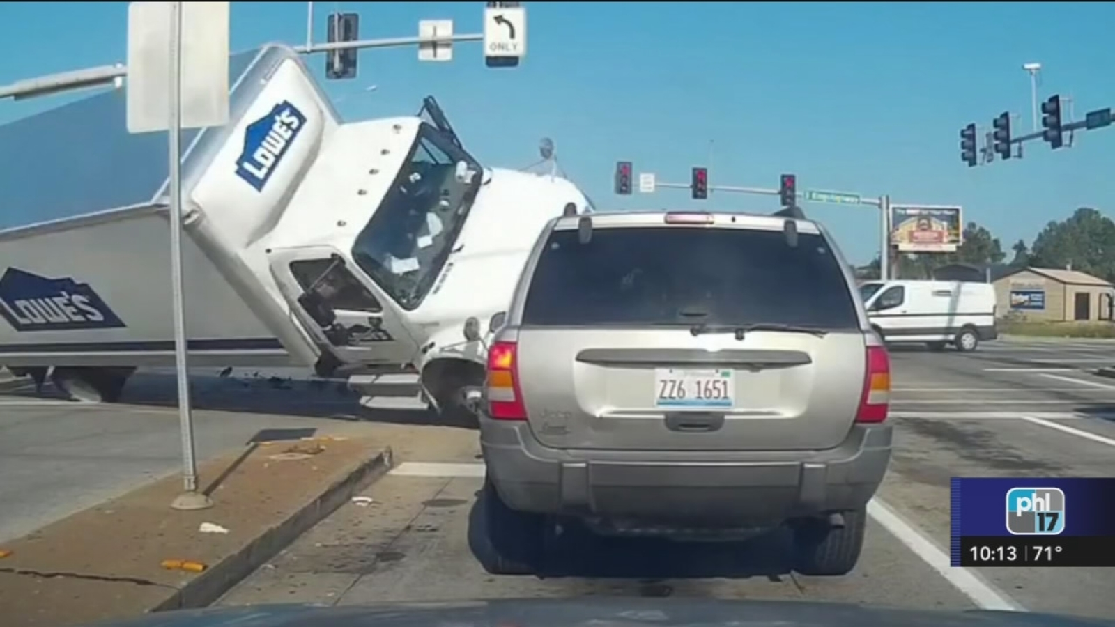 Terrifying Lowe's truck crash caught on video