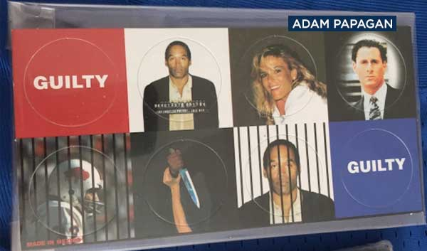 <div class='meta'><div class='origin-logo' data-origin='none'></div><span class='caption-text' data-credit='Adam Papagan'>The O.J. Simpson pop-up exhibit will feature many artifacts relating to the 1994 trial surrounding the murder of his ex-wife Nicole Brown Simpson and her friend Ronald Goldman.</span></div>