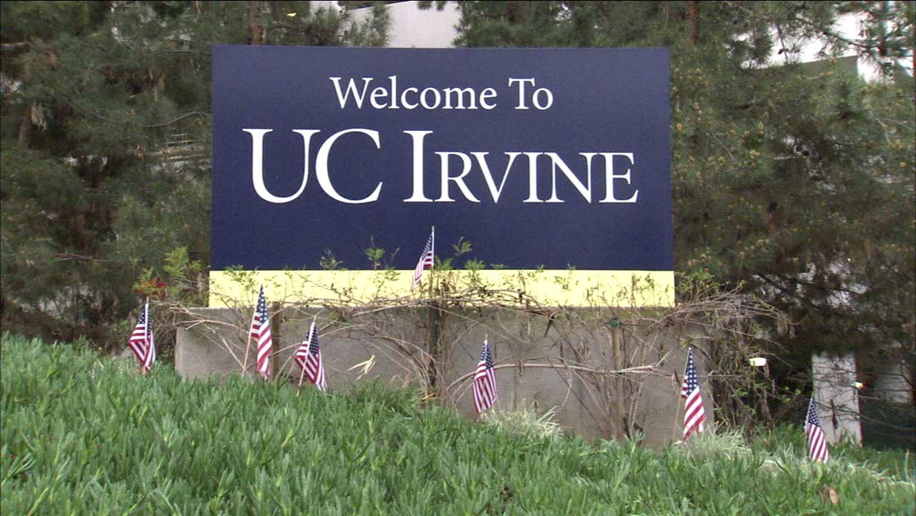 A sign for UC Irvine is seen in this undated file photo.