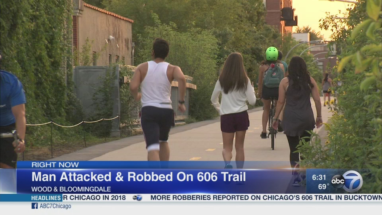 Man robbed on 606 trail