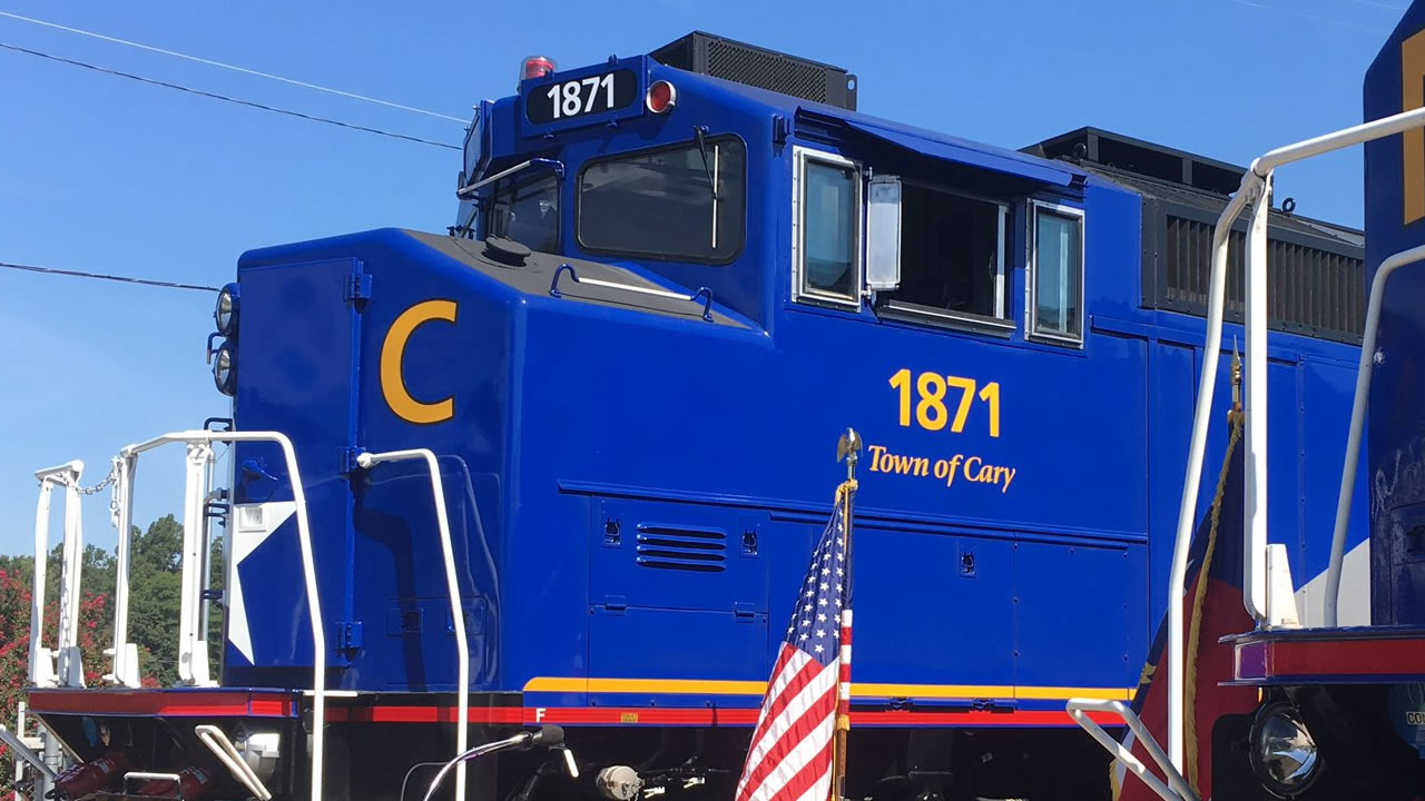 "The ""Town of Cary"" locomotive (image courtesy Town of Cary)"