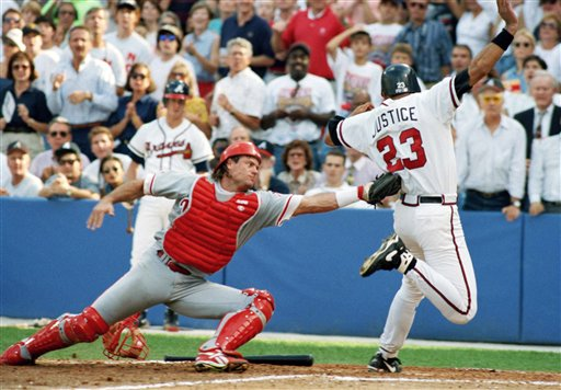 "<div class=""meta image-caption""><div class=""origin-logo origin-image ap""><span>AP</span></div><span class=""caption-text"">Darren Daulton is seen during Game 3 of the NLCS, Saturday, Oct. 9, 1993, Atlanta, Ga. (Associated Press)</span></div>"