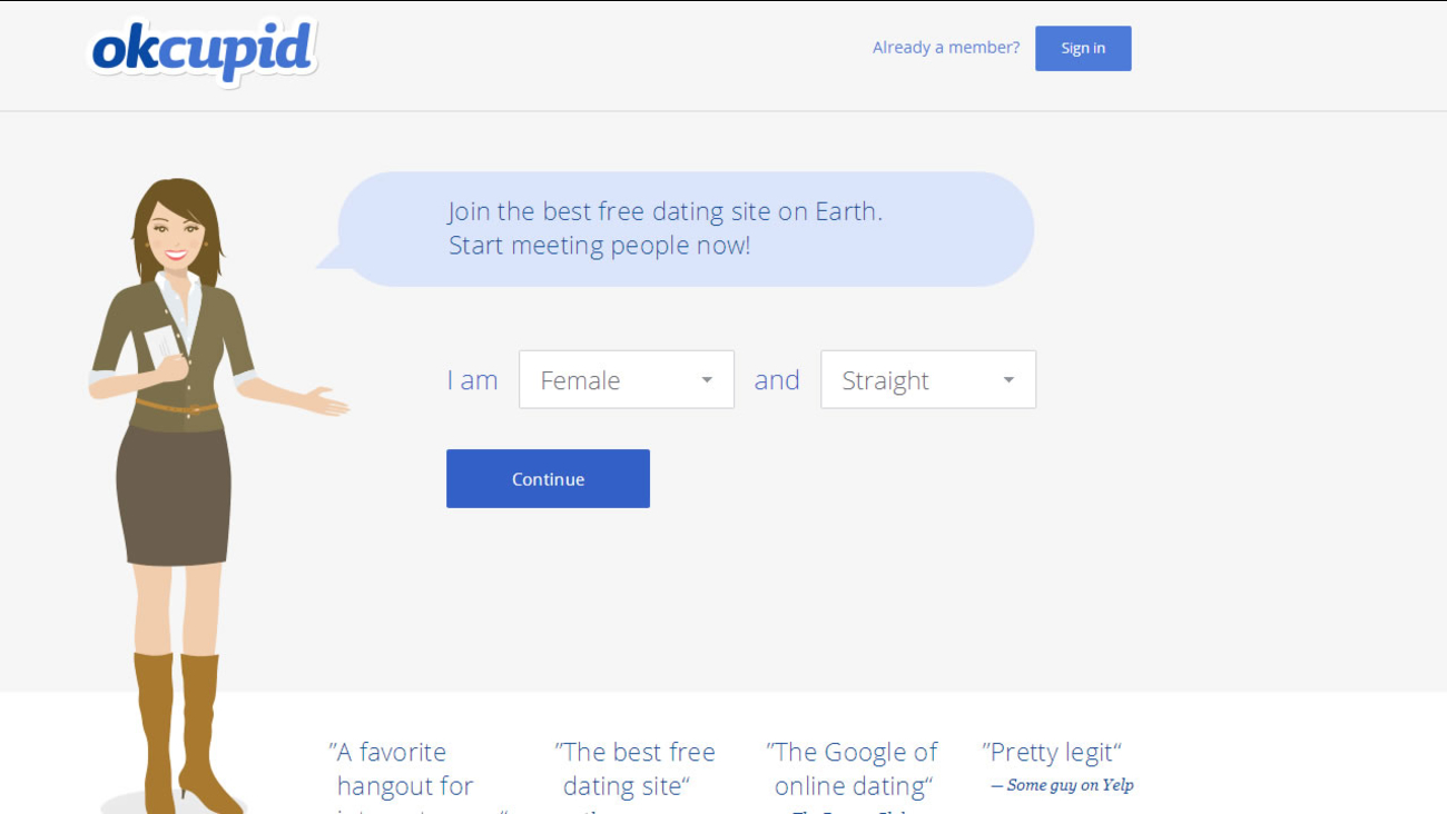 free dating site okcupid