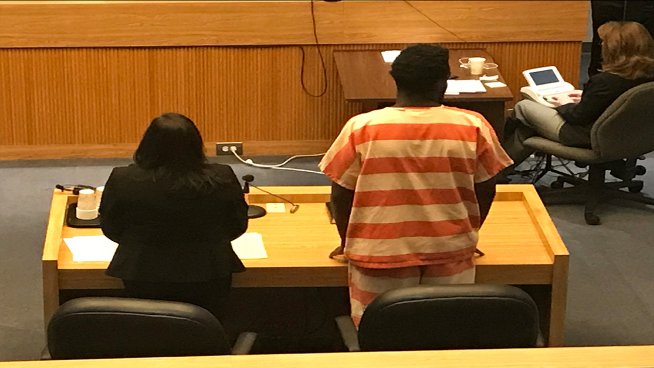 Anthony James stands before a judge on his Monday, August 9th court hearing