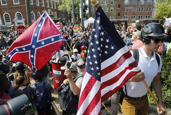 <div class='meta'><div class='origin-logo' data-origin='AP'></div><span class='caption-text' data-credit='AP Photo/Steve Helber'>White nationalist rally to protest the removal of a Confederate General Robert E. Lee statue</span></div>