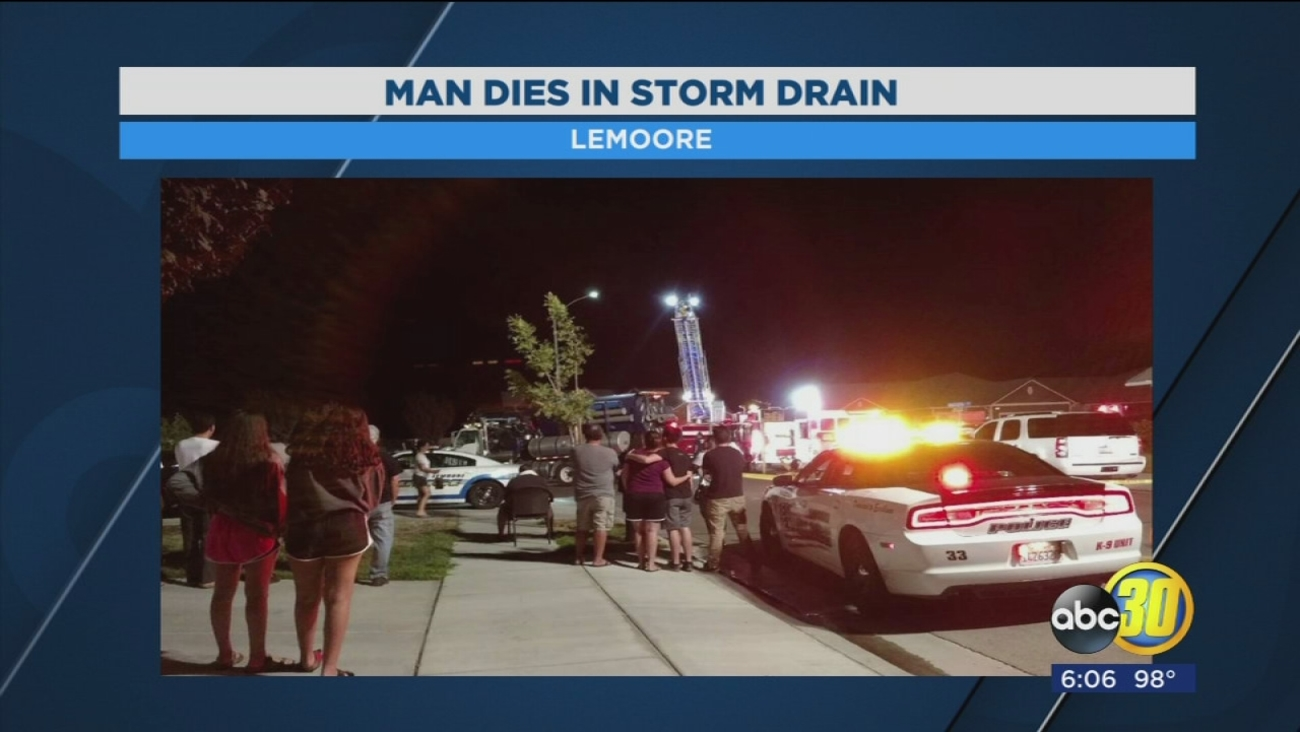 Man dies after attempting to retrieve keys from storm drain in Lemoore
