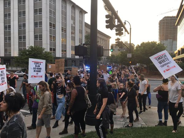 <div class='meta'><div class='origin-logo' data-origin='WTVD'></div><span class='caption-text' data-credit=''>Protesters march in Durham, tear down Confederate statue.</span></div>