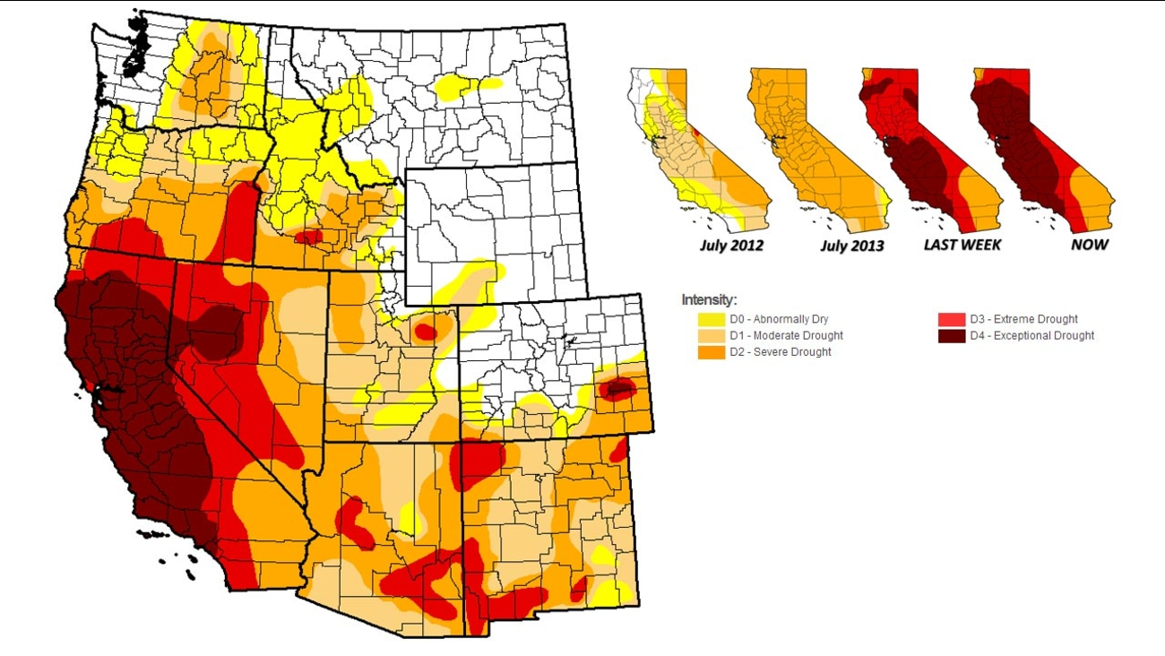 U S  Drought Monitor shows massive expansion in California | abc30 com