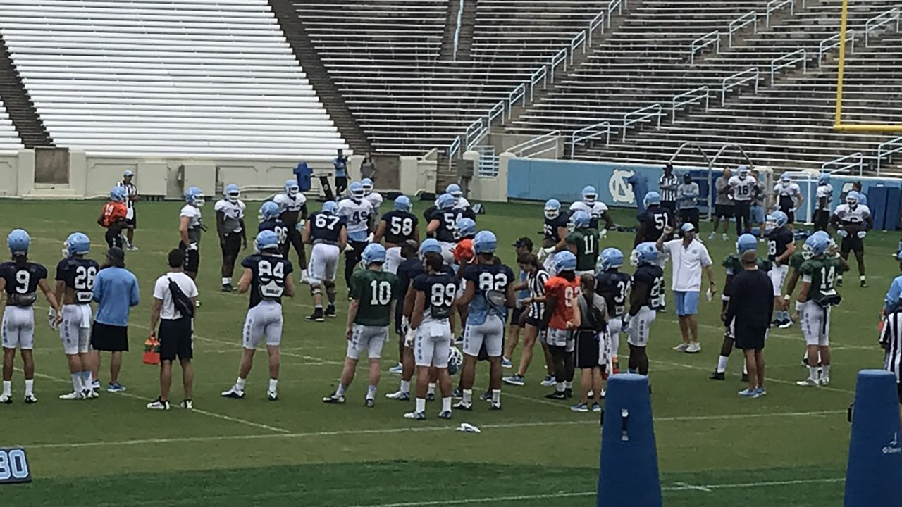 It's a crowded QB field at UNC.