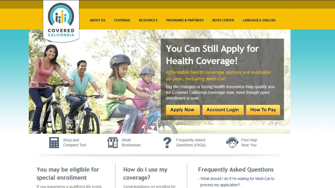 Covered California website (coveredca.com)