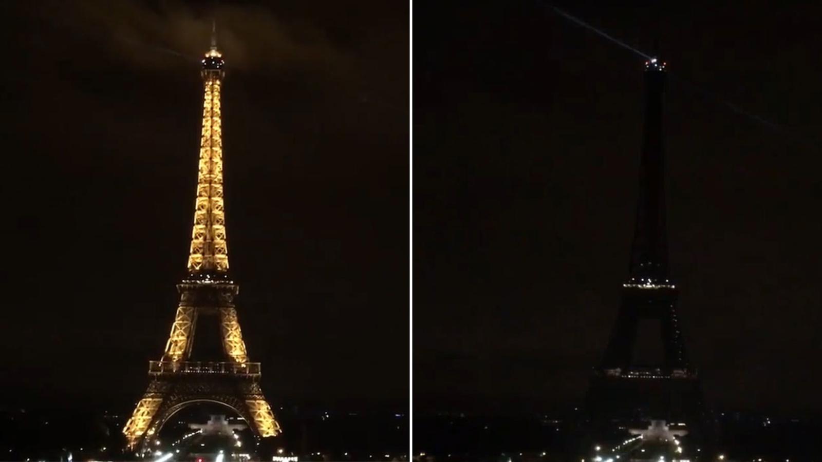 World landmarks go dark, light up in tribute to Spain